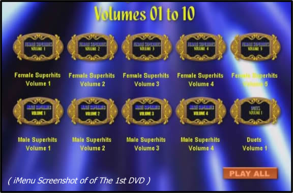 Karaoke Music DVD Menu