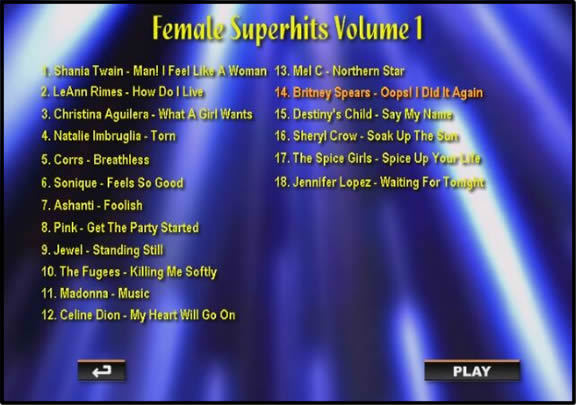 Karaoke Music DVD Menu 2